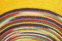 Красочные сплетенные taxtures & предпосылка половика шерстей сизаля Стоковые Фото