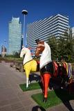 Красочные статуи лошадей в Астане Стоковая Фотография