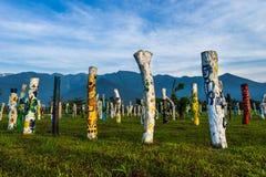 Красочные стволы дерева Стоковые Фотографии RF