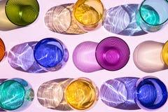 Красочные стекла стоковая фотография rf