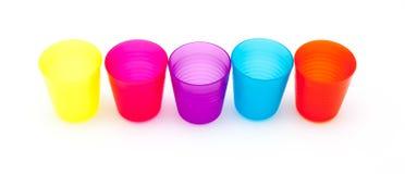 Красочные стекла или чашка для детей Стоковое фото RF