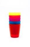 Красочные стекла или чашка для детей Стоковая Фотография RF
