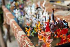 Красочные стеклянные сувениры Стоковое Изображение