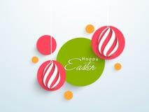 Красочные стикер, бирка или ярлык для счастливого торжества пасхи Стоковая Фотография RF
