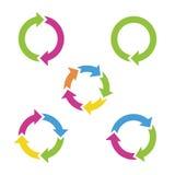 Красочные стрелки цикла Стоковое Изображение RF
