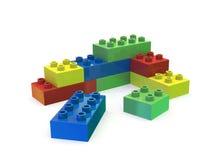 Красочные строительные блоки изолированные на белизне Стоковое Изображение RF