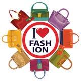 Красочные сумки моды Вектор осени Стоковая Фотография RF