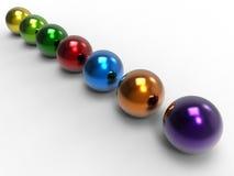 Красочные сферы - концепция разнообразия бесплатная иллюстрация