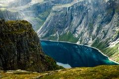 Красочные сцены горы в Норвегии Красивый ландшафт Норвегии, Скандинавии Ландшафт горы Норвегии Стоковое Изображение