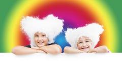 Красочные счастливые девушки Стоковое Изображение