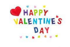 Красочные счастливые письма валентинки на изолированной белой предпосылке Стоковая Фотография