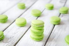 красочные сладостные macaroons Стоковая Фотография