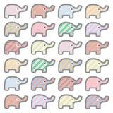 Красочные слоны background1 Стоковое Изображение