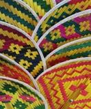 Красочные тайские вентиляторы корзины стоковое фото rf