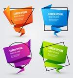 Красочные творческие бумажные знамена для вашего текста также вектор иллюстрации притяжки corel Стоковое фото RF