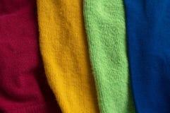 Красочные ткани стоковое фото