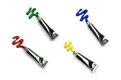 Красочные трубки цвета воды Стоковые Фотографии RF
