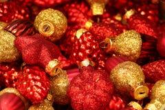 Красочные украшения с темами рождества стоковое изображение rf