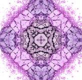 Красочные ультрафиолетов мандала состава или орнамент, картина Стоковые Фото