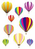 Красочные установленные воздушные шары - иллюстрация вектора установила много цветов иллюстрация штока