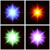 Красочные установленные влияния взрыва Стоковое Изображение RF