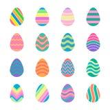 Красочные установленные значки пасхальных яя Стоковые Изображения