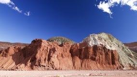 Красочные утесы в Чили, долине радуги Стоковые Фотографии RF