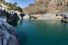 Красочные утесы Оман Стоковое Изображение