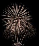 Красочные фейерверки в черном небе стоковое фото rf