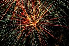 Красочные фейерверки на ноче лета Стоковые Изображения RF