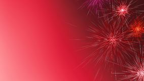 Красочные фейерверки праздника на предпосылке ночи Новый Год китайца предпосылки E Стоковая Фотография