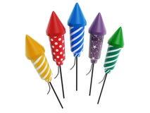 Красочные фейерверки ракеты бесплатная иллюстрация