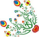 Красочные фольклорные цветки Стоковые Фотографии RF