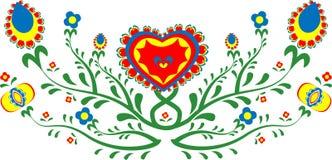 Красочные фольклорные цветки Стоковые Изображения RF
