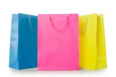 Красочные хозяйственные сумки в бумаге Стоковая Фотография