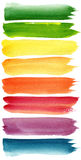 Красочные ходы щетки акварели Стоковая Фотография RF