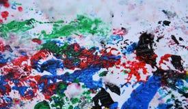 Красочные цвета и оттенки темной черноты голубые розовые Абстрактная влажная предпосылка краски Пятна картины стоковые изображения