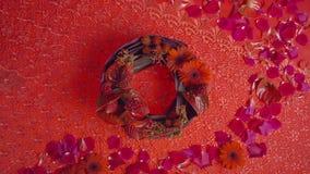 Красочные цветки украшенные как пук люстр тип украшения тайский стоковые фото