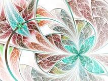 Красочные цветок или бабочка фрактали Стоковые Изображения RF