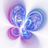 Красочные цветок или бабочка фрактали Стоковое фото RF