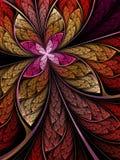 Красочные цветок или бабочка Стоковое Изображение