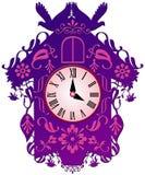 Красочные часы с кукушкой Стоковое Изображение