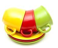 Красочные чашки Стоковое фото RF