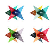 Красочные шаблоны стрелки знамени варианта вектора, infographic планы бесплатная иллюстрация