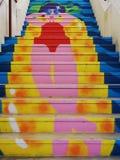 Красочные шаги в Agueda, Португалию стоковое фото rf