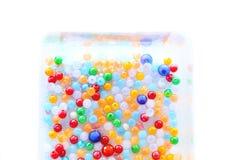 Красочные шарики в коробке Стоковое Изображение RF