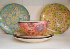 Красочные шар и плиты Стоковое Фото