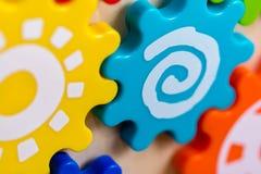Красочные шестерни игрушки Стоковое Фото