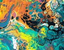 Красочные штриховатости краски Стоковое Изображение