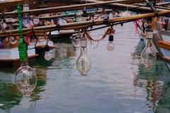 Красочные шлюпки, Таиланд Стоковая Фотография